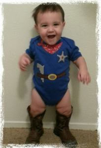Baby J all ready for his party this weekend!